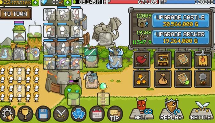 tải Grow Castle hack apk